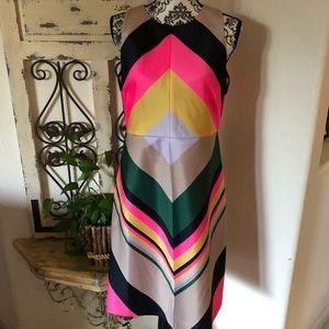J Crew collection bright retro multicolor dress